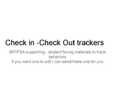 CICO trackers for FBA and BIP support