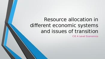 CIE AS Level Economics different economic systems / transition economies PPTs