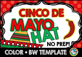 CINCO DE MAYO CRAFT (SOMBRERO HAT HOLIDAY CRAFTS)  MAY CRAFTS