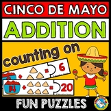 CINCO DE MAYO ACTIVITY KINDERGARTEN MATH (ADDITION COUNT ON STRATEGY) SUMS TO 20