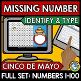 CINCO DE MAYO ACTIVITY (KINDERGARTEN HUNDRED CHART MISSING NUMBERS TO 100 GAME