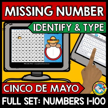 CINCO DE MAYO ACTIVITY (KINDERGARTEN HUNDRED CHART MISSING NUMBERS TO 100 GAME