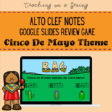 CINCO DE MAYO Alto Clef Note Review Game for Elementary Music on Google Slides