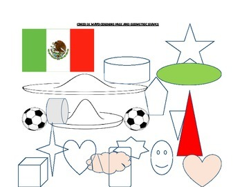 CINCO DE MAYO COLORING PAGE AND GEOMETRIC SHAPES