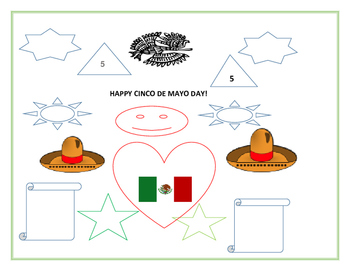 CINCO DE MAYO COLORING PAGE & GEOMETRIC SHAPES #2