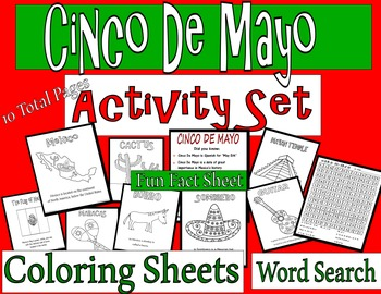 CINCO DE MAYO Coloring/Activity Set