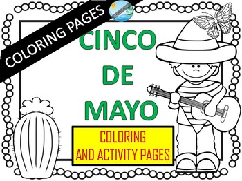 CINCO DE MAYO- Coloring pages and games by Teaching Kiddos 1 | TpT