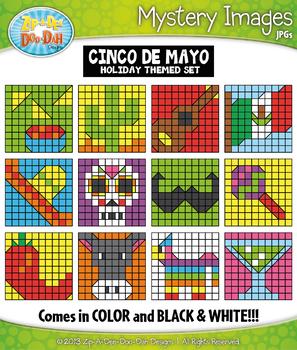 CINCO DE MAYO Mystery Images Clipart {Zip-A-Dee-Doo-Dah Designs}