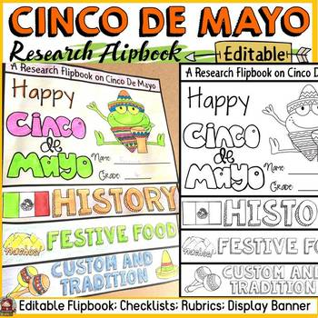 CINCO DE MAYO INFORMATIONAL REPORT WRITING RESEARCH TEMPLATES