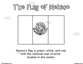 CINCO DE MAYO Mexican Flag Coloring Sheet by The Purple Bee Classroom