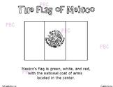 CINCO DE MAYO Mexican Flag  Coloring Sheet