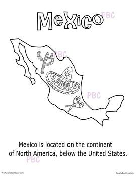 CINCO DE MAYO Mexico Coloring Sheet