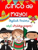CINCO DE MAYO WRITING PAPER and POSTERS! ~ ENGLISH