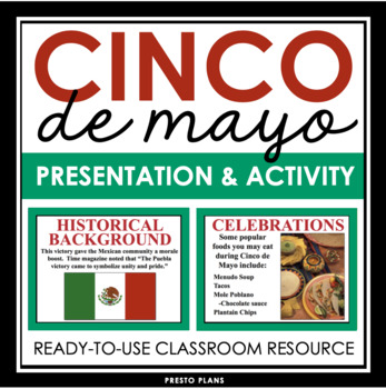 CINCO DE MAYO PRESENTATION AND SPANISH SPEAKING ASSIGNMENT