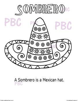 CINCO DE MAYO Sombrero Coloring Sheet