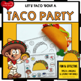 CINCO DE MAYO TACO FEEDING MOUTH speech worksheets EASY PR