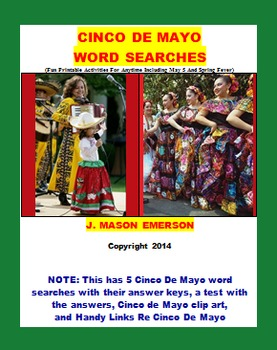 CINCO DE MAYO WORD SEARCHES (Holidays, Social Studies, Pri