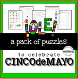 CINCO de MAYO puzzles with algebra skills