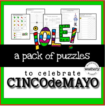 CINCO de MAYO puzzles for algebra and beyond and before