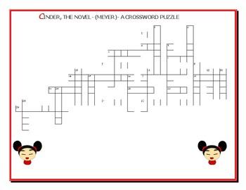 CINDER: THE NOVEL, A CROSSWORD PUZZLE