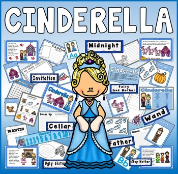 CINDERELLA STORY TEACHING RESOURCES EYFS KS1-2 ENGLISH DISPLAY