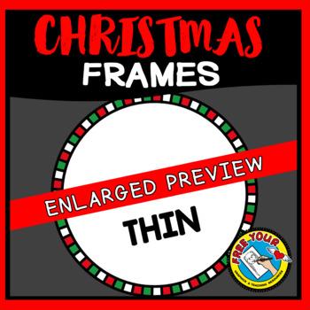CHRISTMAS CLIPART FRAMES AND BORDERS (CIRCLE)