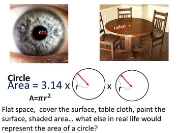 CIRCLE CIRCUMFERENCE AND AREA EXAMPLES