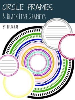 CIRCLE FRAMES + Black Line Graphics / 31 Images