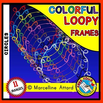 CIRCLE LOOPY CLIPART FRAMES: CIRCLE FRAMES CLIPART: LOOPY BORDERS: LOOPY FRAMES