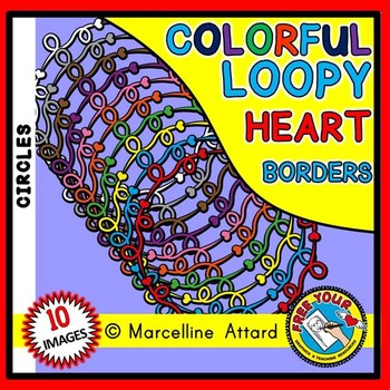 LOOPY HEARTS CLIPART FRAMES AND BORDERS CIRCLE SHAPE