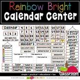 CIRCLE TIME CALENDAR CENTER - RAINBOW & BLACK CLASSROOM DÉCOR
