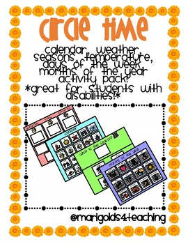 CIRCLE TIME pack for students with disabilities! Calendar skills, weather &more!