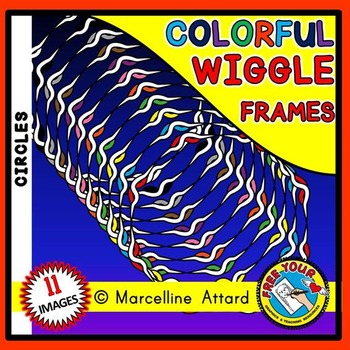 WIGGLE CIRCLE FRAMES AND BORDERS CLIPART