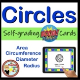 BOOM cards CIRCLES Area Diameter Circumference Radius