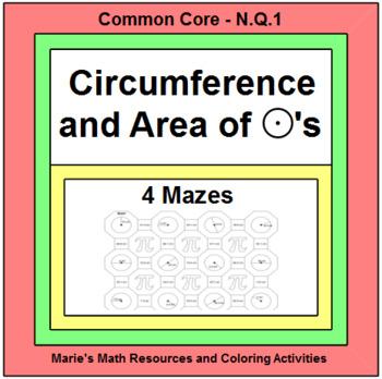 CIRCLES:  CIRCUMFERENCE - MAZES