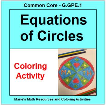 CIRCLES: EQUATIONS OF CIRCLES #4 - COLORING ACTIVTY