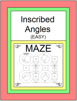 CIRCLES: INSCRIBED ANGLES - EASY MAZES