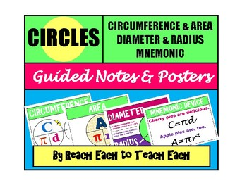 CIRCLES - Posters, Mnemonics, Guided Notes, and Answer Keys