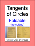 CIRCLES:  TANGENT LINES OF CIRCLES - FOLDABLE FOR INTERACTIVE NOTEBOOKS