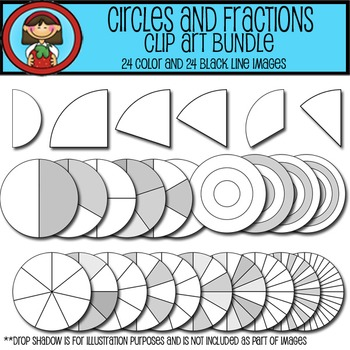 CIRCLES and Fractions Clip Art