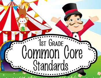 "CIRCUS - 1st Grade Common Core Standards ""I CAN"" format / posters"