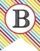 CIRCUS - Alphabet Flag Banner, A to Z, stripes, Create A Banner