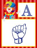CIRCUS - Alphabet Flag Banner, SIGN LANGUAGE
