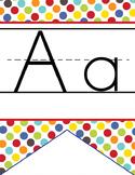 CIRCUS - Alphabet Flag Banner, handwriting, A to Z, ABC print font