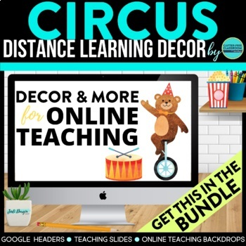 CIRCUS / CARNIVAL THEME Decor - 2 EDITABLE Clutter-Free Classroom Decor BUNDLE