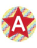 CIRCUS - CIRCLE Bulletin Board Letters / Word Wall / polka dots