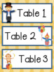 CIRCUS CLASSROOM TABLE AND CENTER SIGNS