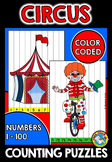 CIRCUS COUNTING TO 100 KINDERGARTEN PUZZLES