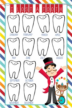 CIRCUS - Classroom Decor: I lost a TOOTH - size 24 x 36