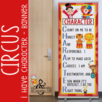 CIRCUS - Classroom Decor: LARGE BANNER, CHARACTER